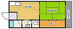 福井マンション[2階]の間取り