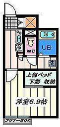 東京都葛飾区新宿3丁目の賃貸アパートの間取り