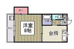 サンシャイン田代1[4階]の間取り