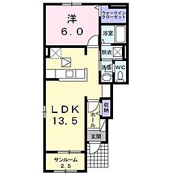 日乃出町アパート[0101号室]の間取り