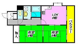 ヌベル・ミズノ 202号室[4階]の間取り