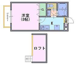 多蔵court2[2階]の間取り