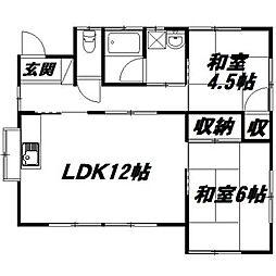 [一戸建] 静岡県浜松市中区小豆餅4丁目 の賃貸【/】の間取り