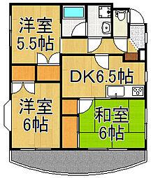中村マンション[2階]の間取り