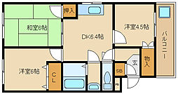 兵庫県尼崎市長洲中通2丁目の賃貸マンションの間取り