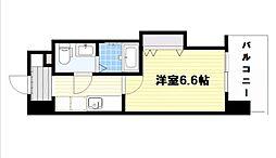 ラグゼ桜ノ宮 7階1Kの間取り