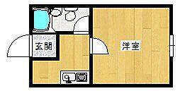 ヒルズアベニューひとみ[2階]の間取り