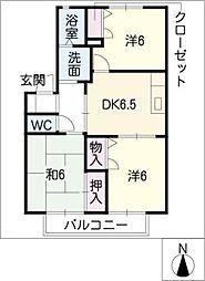 パークサイド 21[2階]の間取り
