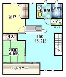 間取り,2LDK,面積55.77m2,賃料5.0万円,JR紀勢本線 海南駅 徒歩8分,,和歌山県海南市名高