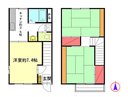 [テラスハウス] 神奈川県足柄下郡湯河原町吉浜 の賃貸【/】の間取り