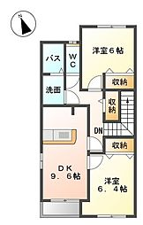 スターオーシャン 横田[203号室]の間取り
