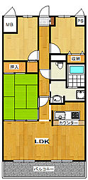 アドヴァンスコート緑地 5階3LDKの間取り