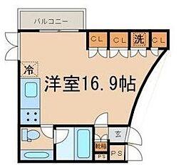 東京都狛江市猪方3丁目の賃貸マンションの間取り