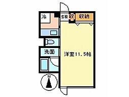 HO三鷹 人気のデザイナーズマンション[1階]の間取り