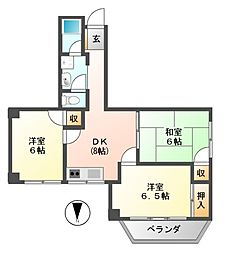 SAMURAIマンション[3階]の間取り