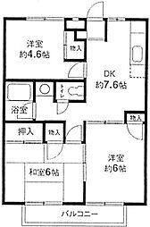 神奈川県横浜市緑区長津田7丁目の賃貸アパートの間取り