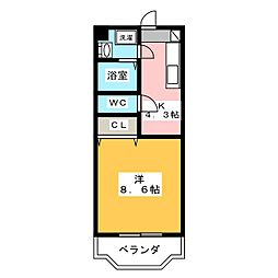 ペガサスMI[2階]の間取り
