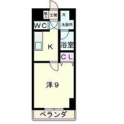 滋賀県草津市東矢倉2丁目の賃貸アパートの間取り