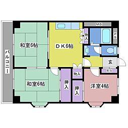 野口第一ビル[2階]の間取り