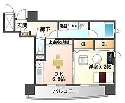 サンレムート江坂Second[9階]の間取り