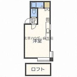 札幌市営南北線 北34条駅 徒歩12分の賃貸アパート 3階1LDKの間取り