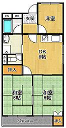 甲子園パインマンション[1階]の間取り