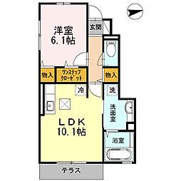 泉区中田東3丁目 メゾンレジーナ103号室[1階]の間取り
