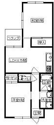 ネオハイム山本[202号室号室]の間取り