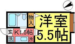 ピュアコート松江[2階]の間取り