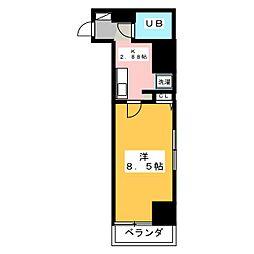 高崎レックス鞘町[6階]の間取り