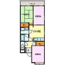 コーポナカイ[1階]の間取り