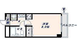 大阪府東大阪市足代3丁目の賃貸マンションの間取り