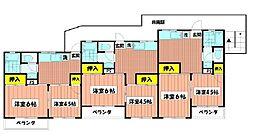 大倉山グリーンハイツ[203号室]の間取り