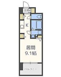 エスキュート梅田中崎町[305号室]の間取り