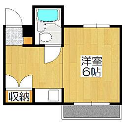 グリーンマンション[304号室]の間取り