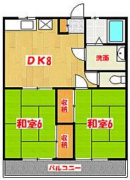 アイカワコーポ[2階]の間取り