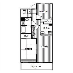 シンベルク横濱[502号室]の間取り