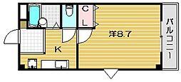 大阪府茨木市春日3丁目の賃貸マンションの間取り