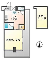 アンスメン(une semaine)[7階]の間取り