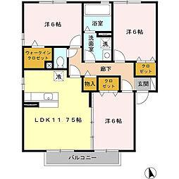 フォレストヴィラ 3棟[2階]の間取り