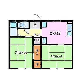 幸石コーポ[4階]の間取り