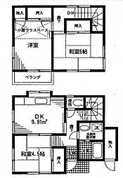[一戸建] 神奈川県座間市相模が丘4丁目 の賃貸【神奈川県 / 座間市】の間取り