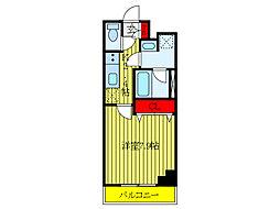 JR京浜東北・根岸線 王子駅 徒歩9分の賃貸マンション 1階1Kの間取り