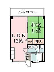 第一シロガネマンション[3階]の間取り
