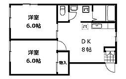 千代田グリーンハイツ[1階]の間取り