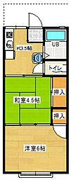 第六橋本シャトー[105号室号室]の間取り