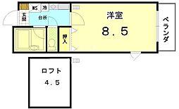 ペラパラスII[4-D号室号室]の間取り