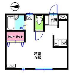 ビクトリーハイツ八斗島[203号室]の間取り