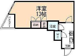 コンチネンタル清水[4階]の間取り