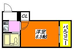 メゾン北野 202号室[2階]の間取り